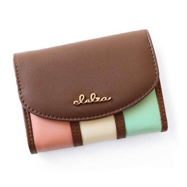ミニ財布 レディース 三つ折り 小さい財布 極小財布 ストライプ フラップ 財布 コンパクトウォレット Clelia CL-11331|shop-kazzu|18