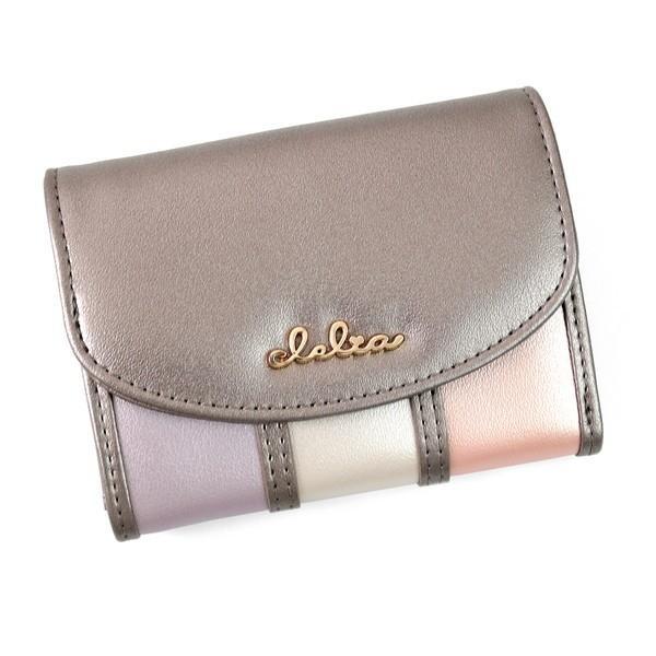 ミニ財布 レディース 三つ折り 小さい財布 極小財布 ストライプ フラップ 財布 コンパクトウォレット Clelia CL-11331|shop-kazzu|22