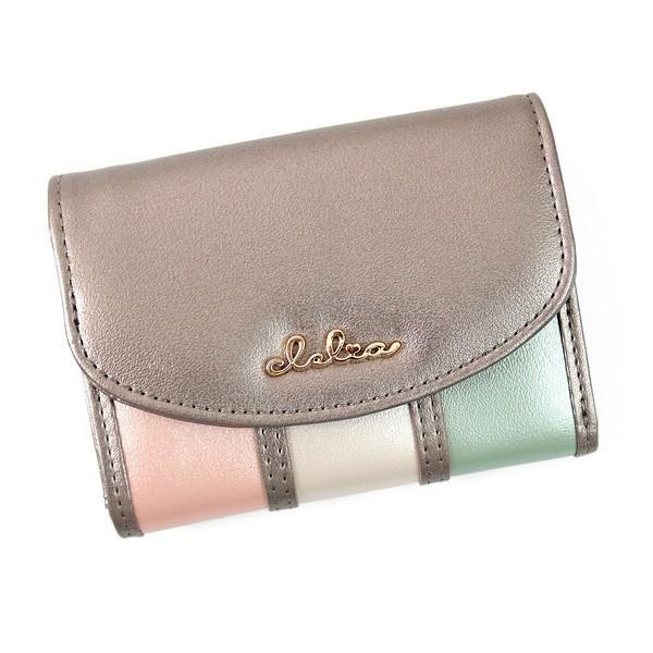 ミニ財布 レディース 三つ折り 小さい財布 極小財布 ストライプ フラップ 財布 コンパクトウォレット Clelia CL-11331|shop-kazzu|23