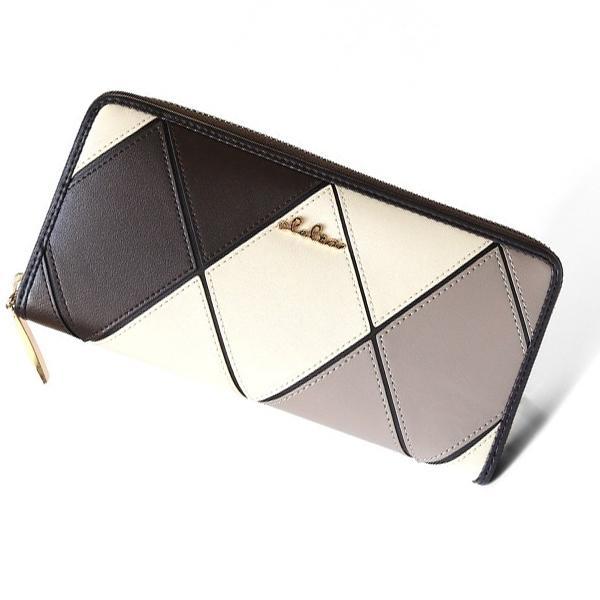 財布 レディース 長財布 大容量 ギャルソン財布 ラウンドファスナー ダイヤ 格子柄 ロングウォレット Clelia CL-11545|shop-kazzu|21