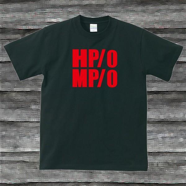 HP・MP Tシャツ・ブラック・プリントレッド・瀕死状態