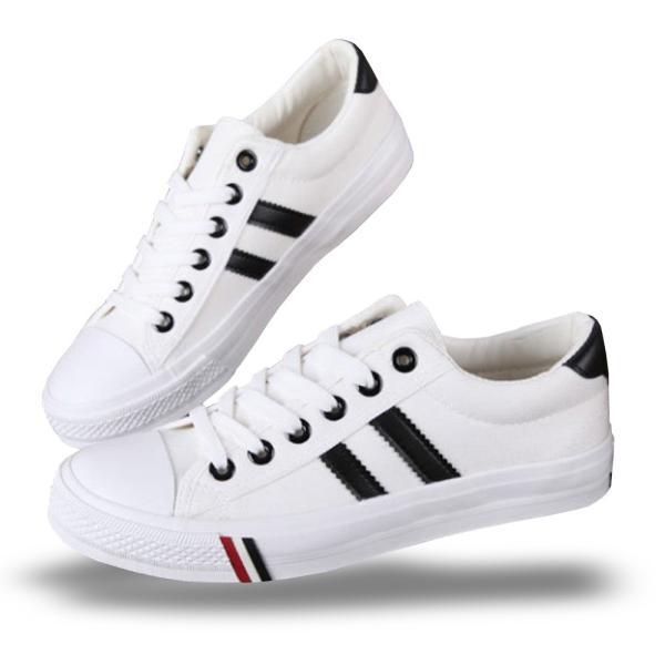 スニーカー メンズ レディース トリコロール キャンバス シューズ 靴 ブラック 黒 ホワイト 白 ネイビー 紺 ローカット シンプル カジュアル|shopao|11