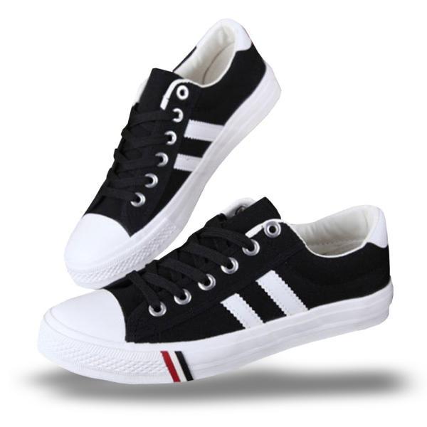 スニーカー メンズ レディース トリコロール キャンバス シューズ 靴 ブラック 黒 ホワイト 白 ネイビー 紺 ローカット シンプル カジュアル|shopao|12