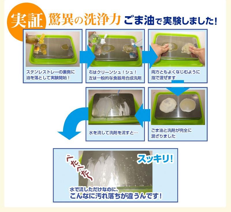 驚異の洗浄力 ごま油で実験しました!