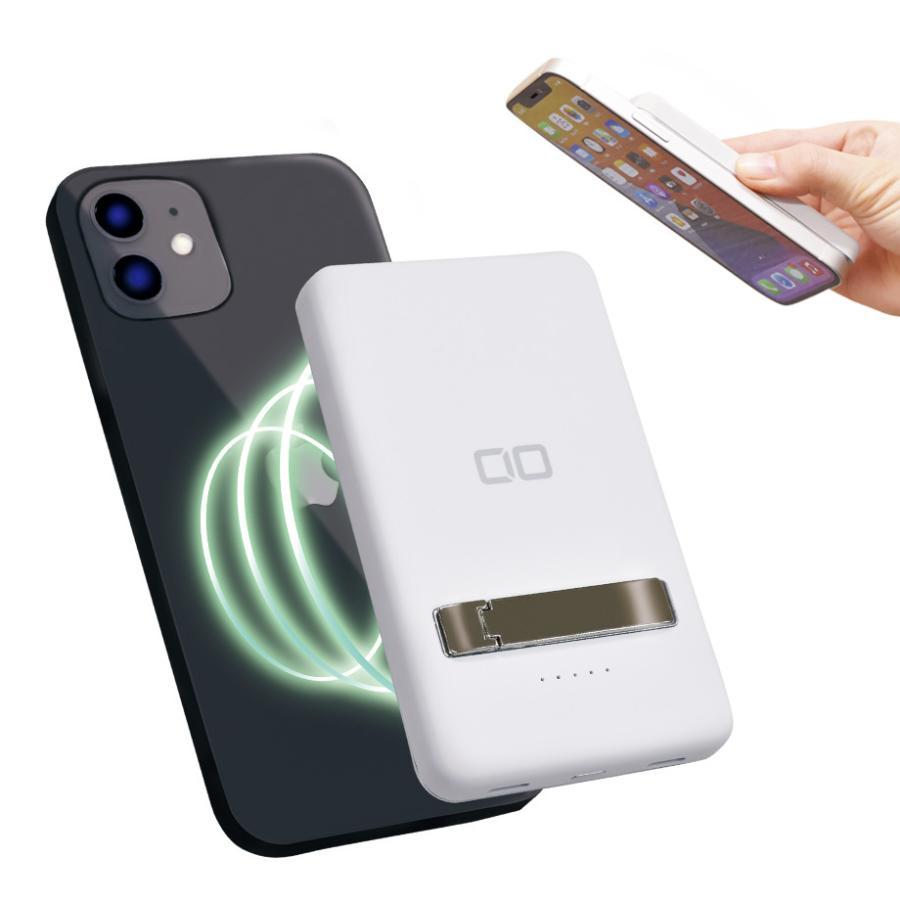 モバイルバッテリー MagSafe対応 iPhone12/Pro/ProMax/mini マグネット PD ワイヤレス充電 軽量 小型 5000mAh 急速充電対応 15W充電 コンパクト Android Galaxy|shops-of-the-town|15