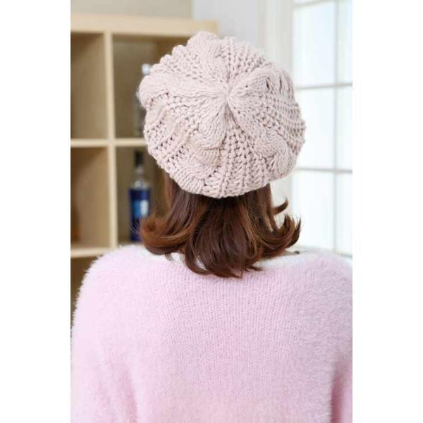 レディース 帽子 ニットベレー帽 ニット帽 ベレー帽 ゆったり 秋 冬 ふわふわ 毛糸 暖か ざっくり 編み ベーシック mz2288|shopzero|18