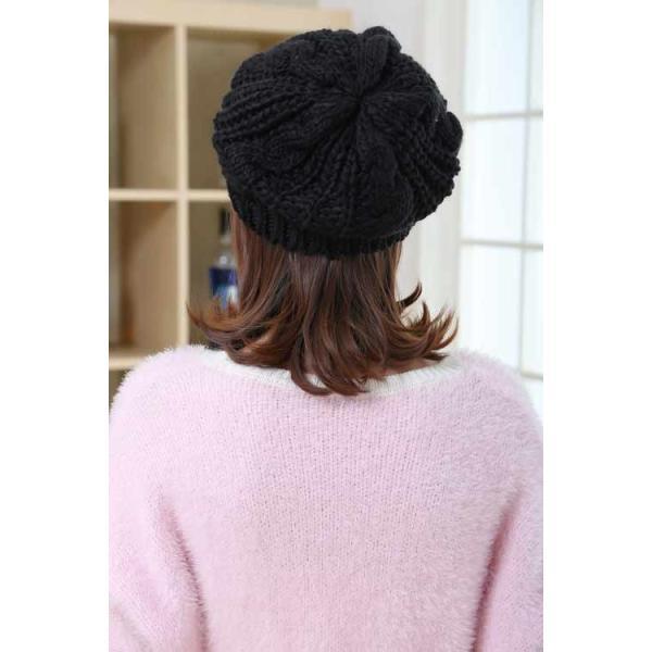 レディース 帽子 ニットベレー帽 ニット帽 ベレー帽 ゆったり 秋 冬 ふわふわ 毛糸 暖か ざっくり 編み ベーシック mz2288|shopzero|14
