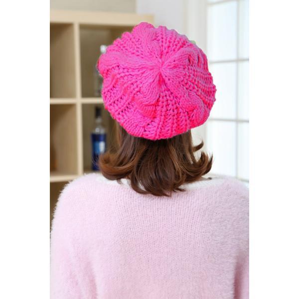 レディース 帽子 ニットベレー帽 ニット帽 ベレー帽 ゆったり 秋 冬 ふわふわ 毛糸 暖か ざっくり 編み ベーシック mz2288|shopzero|17