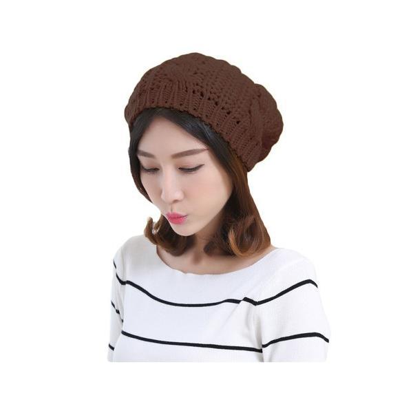 レディース 帽子 ニットベレー帽 ニット帽 ベレー帽 ゆったり 秋 冬 ふわふわ 毛糸 暖か ざっくり 編み ベーシック mz2288|shopzero|21