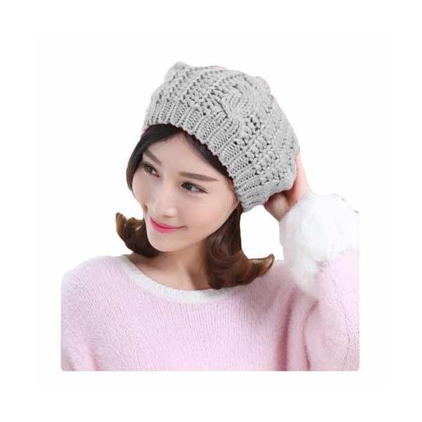 レディース 帽子 ニットベレー帽 ニット帽 ベレー帽 ゆったり 秋 冬 ふわふわ 毛糸 暖か ざっくり 編み ベーシック mz2288|shopzero|22