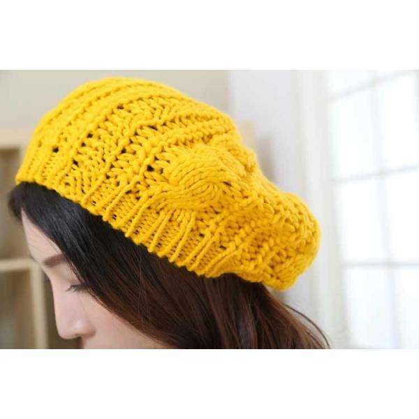 レディース 帽子 ニットベレー帽 ニット帽 ベレー帽 ゆったり 秋 冬 ふわふわ 毛糸 暖か ざっくり 編み ベーシック mz2288|shopzero|25