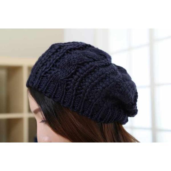 レディース 帽子 ニットベレー帽 ニット帽 ベレー帽 ゆったり 秋 冬 ふわふわ 毛糸 暖か ざっくり 編み ベーシック mz2288|shopzero|24