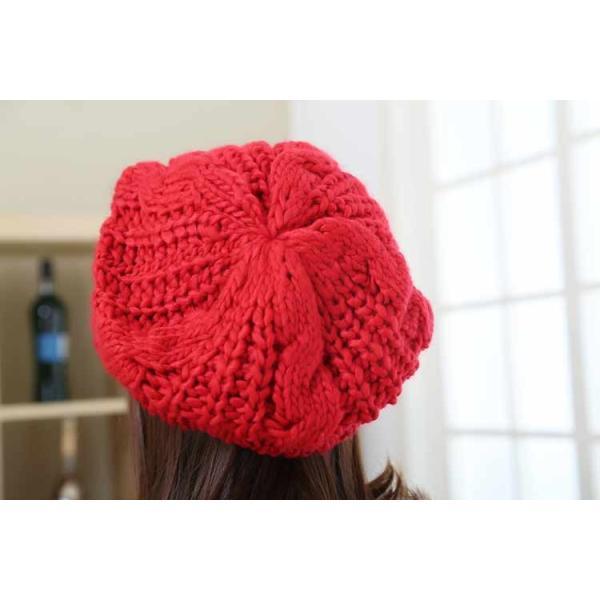 レディース 帽子 ニットベレー帽 ニット帽 ベレー帽 ゆったり 秋 冬 ふわふわ 毛糸 暖か ざっくり 編み ベーシック mz2288|shopzero|20