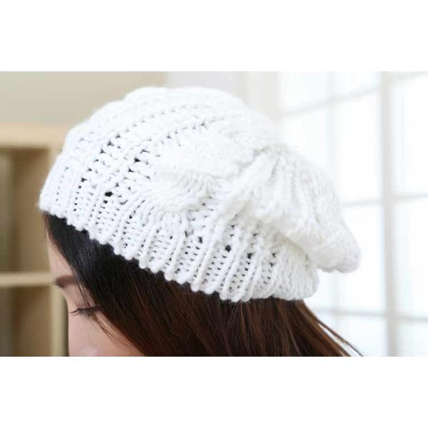 レディース 帽子 ニットベレー帽 ニット帽 ベレー帽 ゆったり 秋 冬 ふわふわ 毛糸 暖か ざっくり 編み ベーシック mz2288|shopzero|15