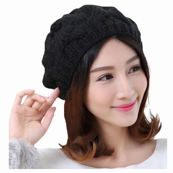 レディース 帽子 ポンポン付きニット帽 ニットベレー 毛糸帽子 mz2320|shopzero|13