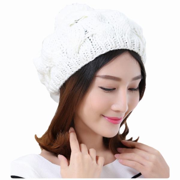 レディース 帽子 ポンポン付きニット帽 ニットベレー 毛糸帽子 mz2320|shopzero|12