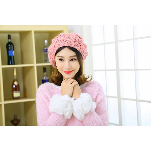 レディース 帽子 ポンポン付きニット帽 ニットベレー 毛糸帽子 mz2320|shopzero|15