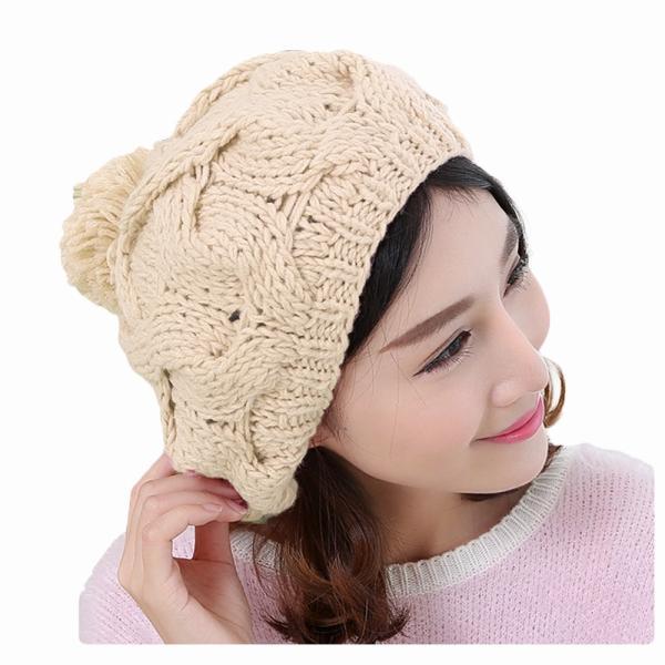 レディース 帽子 ポンポン付きニット帽 ニットベレー 毛糸帽子 mz2320|shopzero|18