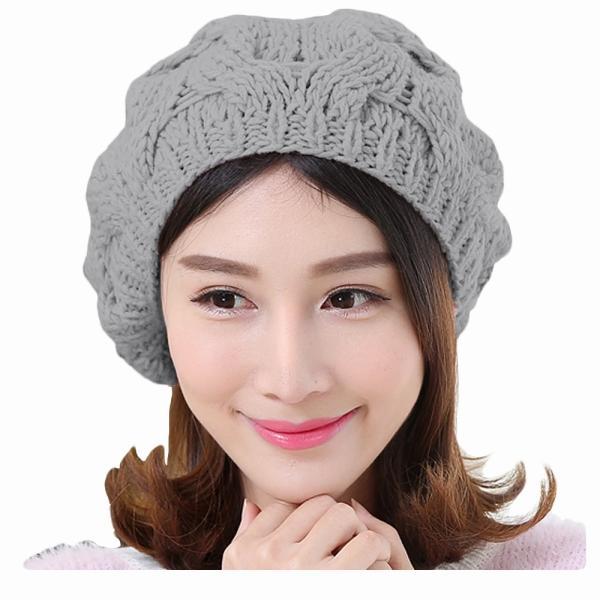 レディース 帽子 ポンポン付きニット帽 ニットベレー 毛糸帽子 mz2320|shopzero|14