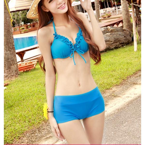 レディース 水着3点セット ビキニ 2way シフォン ワンピース 大きいサイズ 夏 yy2491|shopzero|14