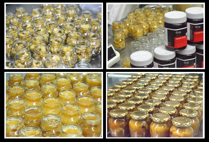 マヌカ蜂蜜しょうがの製造風景
