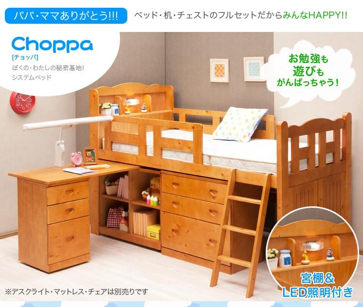 組み変え自由自在のシステムベッド【チョッパ-choppa】システムベッド 学習机