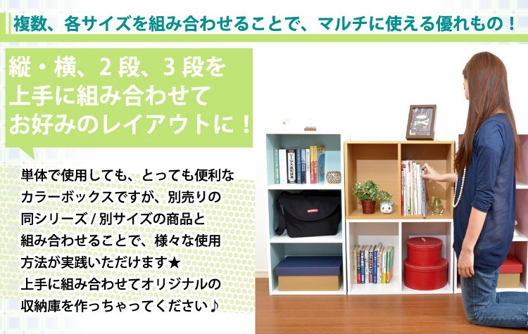カラーボックスシリーズ/kara-baco3/3段 2個セット