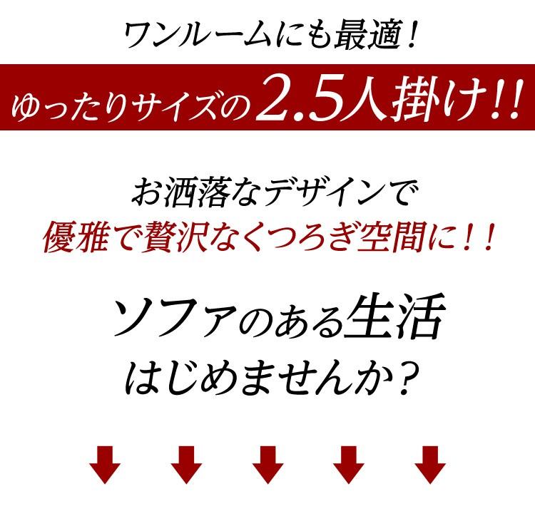 2.5人掛けスタイリッシュソファ【-Nelke-ネルケ】