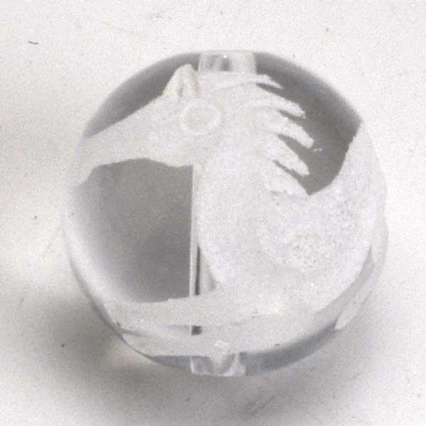 パワーストーン ブレスレット12mm手彫り水晶うまくいく