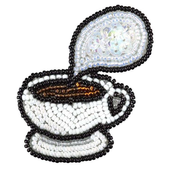 MIYUKI ビーズ刺繍 ブローチキット  ほっと コーヒー BFK-577