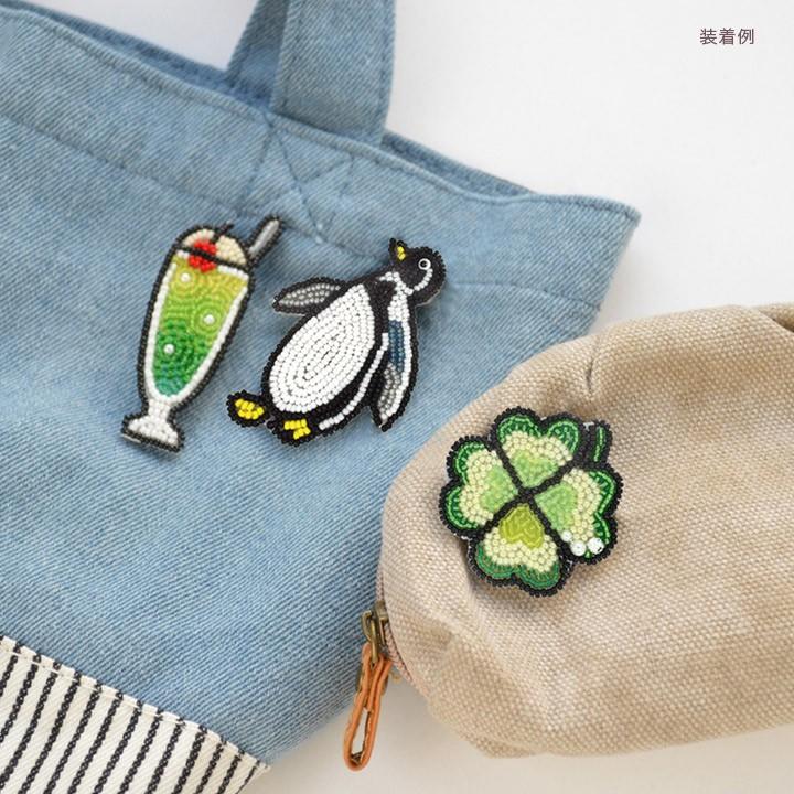 MIYUKI ビーズ刺繍 ブローチキット つやつやリップ BFK-579