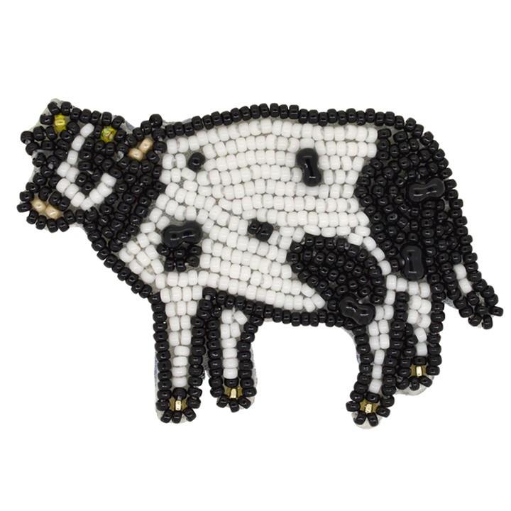 MIYUKI ビーズ刺繍 ブローチキット のんびりモーちゃん BFK-583