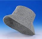 シルク帽子「ワンサブリナ」ライトグレー