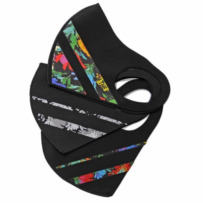 """"""" マスク 洗える メンズ 3枚入り SB select 3Pファッションマスク (返品・交換対象外商品) おしゃれ 総柄 花柄 迷彩柄 カモフラージュ柄 """" silverbulletxfuga 15"""