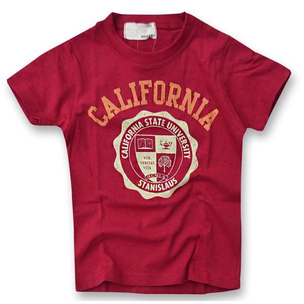 SHISKY アメカジ・プリントTシャツ キッズ ジュニア カレッジデザイン 半袖 ティーシャツ 男の子 110 120 130 140 150 160 2点以上で送料無料|sime-fabric|24