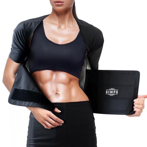 サウナスーツ ヨガ トップス ダイエットウェア トレーニング 脂肪燃焼 ダイエット ダイエットスーツ シェイプアップ 発汗作用 フィットネスウェア 発熱 発汗 simps-shop 08