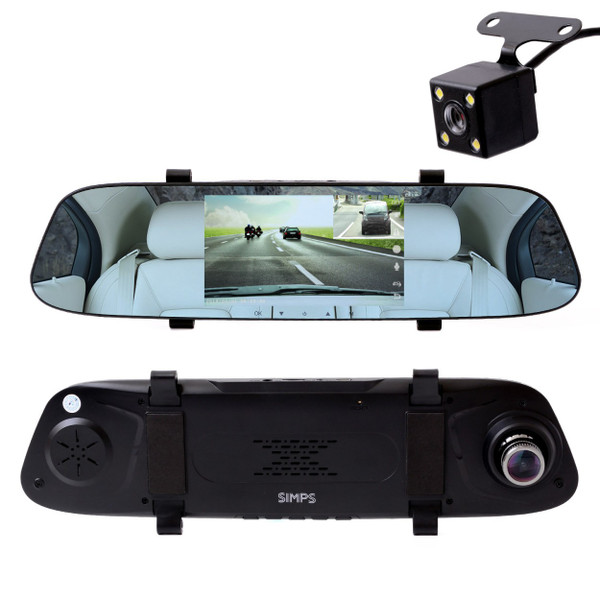 ドライブレコーダー 前後カメラ ミラー型 5インチ 上書き録画 170度広角レンズ 1080PフルHD ドラレコ 120度広角リアカメラ|simps-shop|08