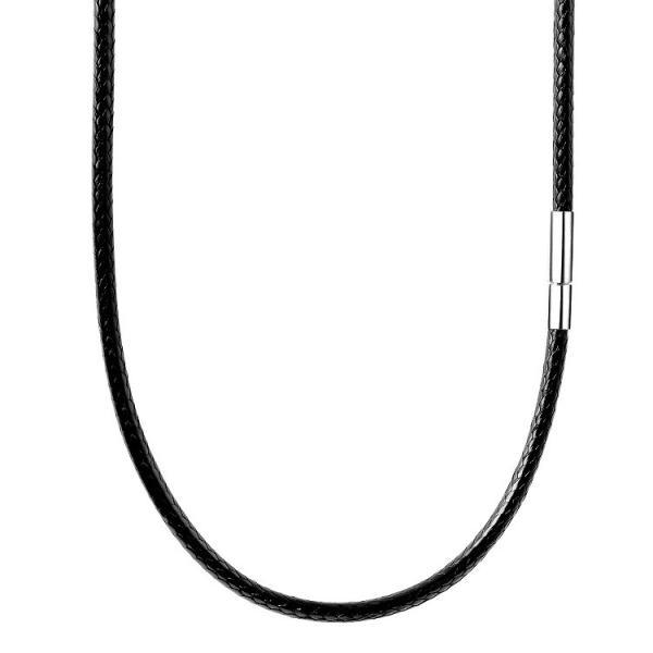 紐 ネックレス チョーカー ラップブレス ワックスコード 黒 メンズ 316L ステンレス 留め具 耐久性 防水 2mm 3mm 太さ 45cm 50cm 55cm simps-shop 11