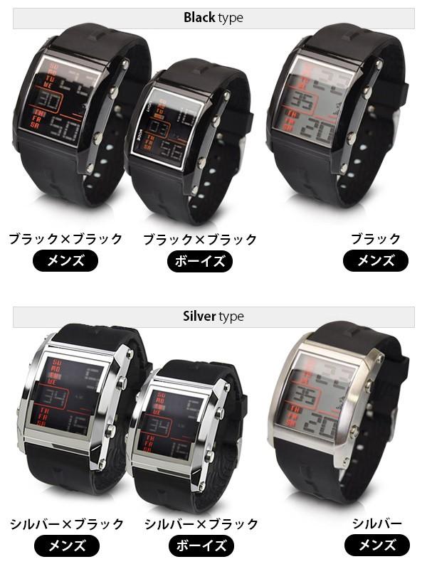 メンズ腕時計 デジタル フランテンプス ユイット Franc Temps Huit