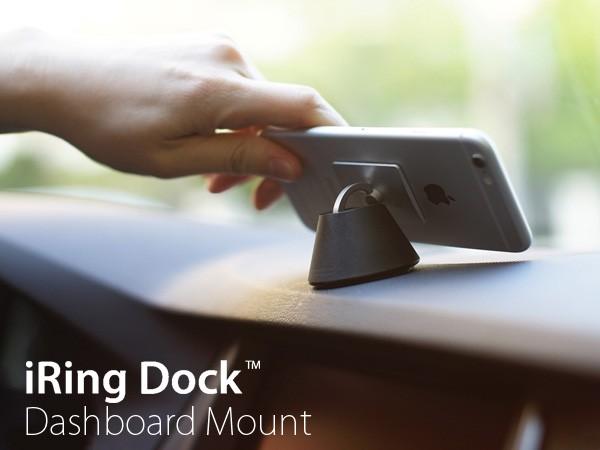 iRing Dock アイリングドック iPhone スマホ スタンド 車載ホルダー 車載スタンド リング 落下防止