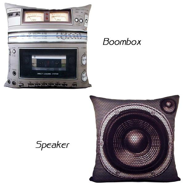 ステレオクッション Boombox,Speaker ステレオピロー