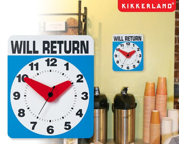 【KIKKERLAND】WILL RETURN CLOCK 壁掛け時計