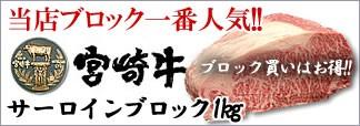 《宮崎牛》サーロインブロック1kg