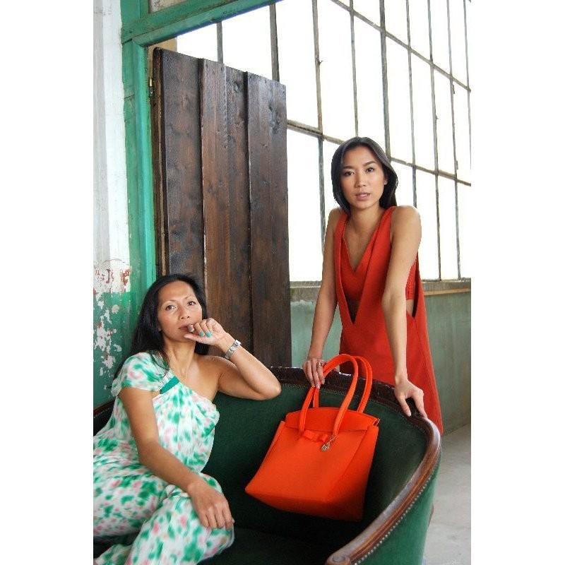 SKIMP ウェットスーツ素材バッグ オレンジ2 軽量 撥水