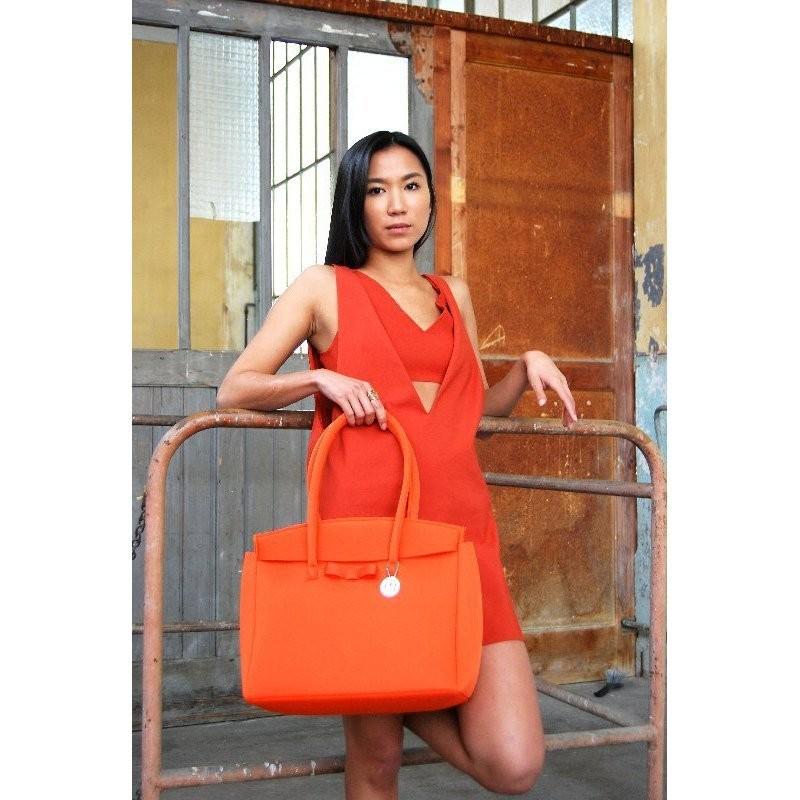 SKIMP ウェットスーツ素材バッグ オレンジ4 軽量 撥水