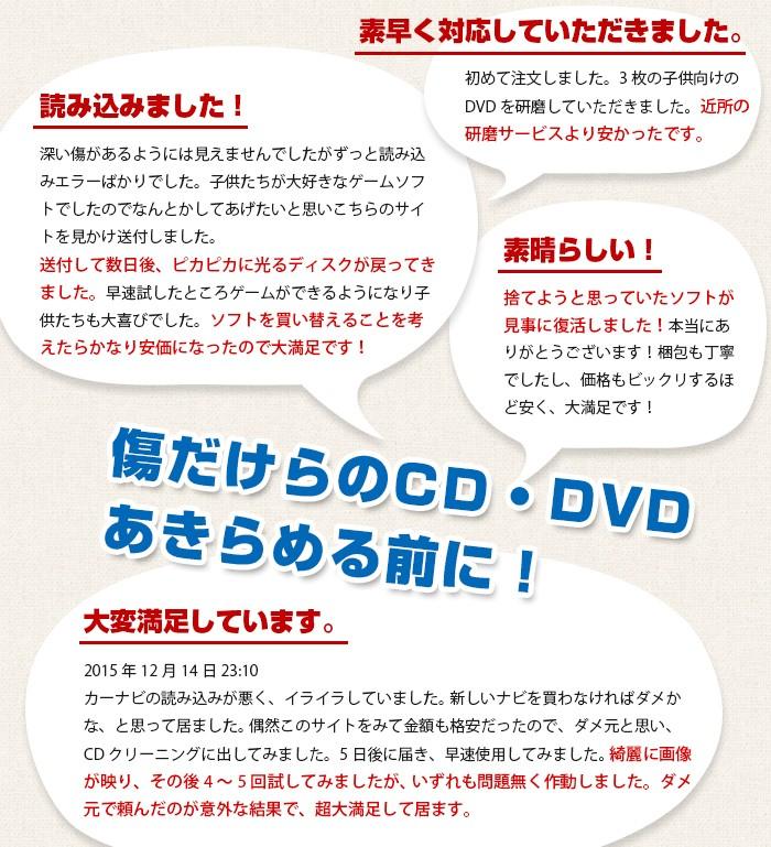 CD・DVD研磨格安サービス