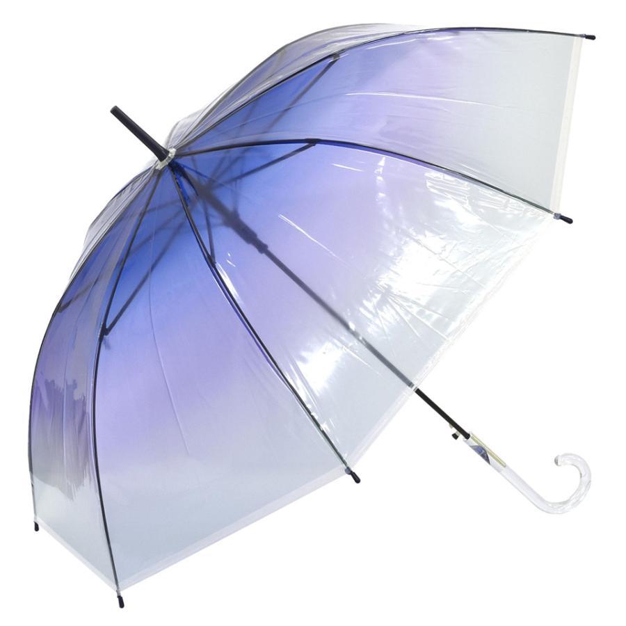 ビニール傘 ジャンプ おしゃれ 大きい かわいい 女子 クリア 透明  レインボー レディース ビニ傘 長傘 60cm グラスファイバー 軽量 中学生 高校生 新学期 梅雨 slowfine 18