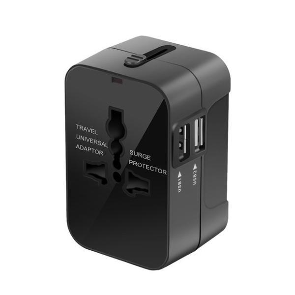海外用 コンセント USB2ポート付き マルチ変換プラグ 旅行 変換アダプター iPhoneX iPad Pro タブレット 対応 100V-250V対応可 JP US UK EU AU対応 smahoservic 13