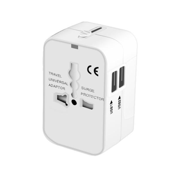 海外用 コンセント USB2ポート付き マルチ変換プラグ 旅行 変換アダプター iPhoneX iPad Pro タブレット 対応 100V-250V対応可 JP US UK EU AU対応 smahoservic 16