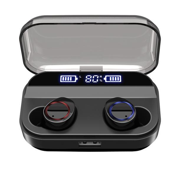Bluetooth 5.0 ワイヤレスイヤホン Bluetooth イヤホン ブルートゥース イヤホン 残量表示 両耳 片耳 IPX7防水 Hi-Fi 高音質 自動ペアリング スポーツ 運動|smahoservic|21